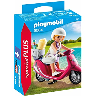 PLAYMOBIL Beachgoer with Scooter Building Set: Toys & Games