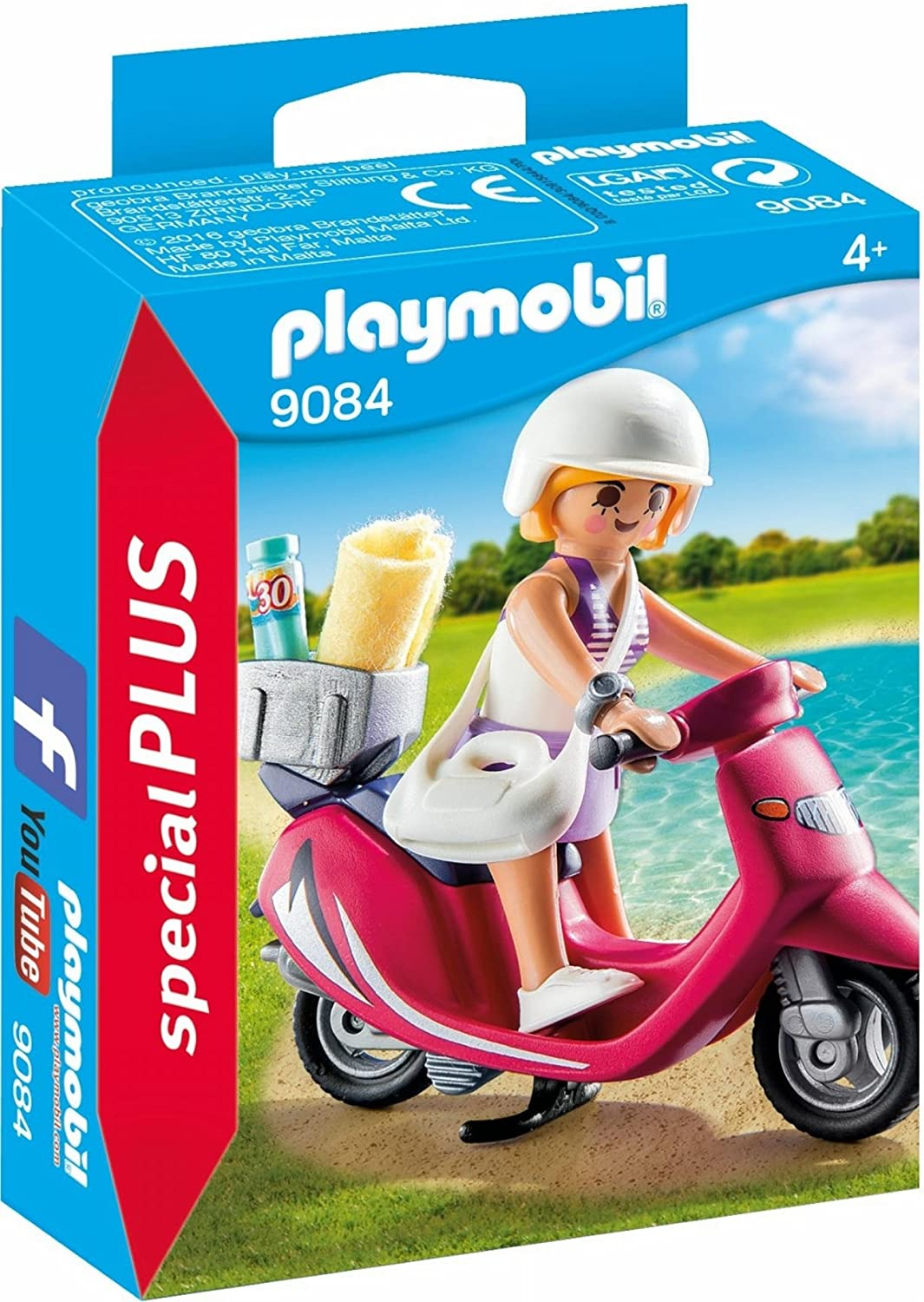PLAYMOBIL Especiales Plus-9084 Mujer con Scooter, Multicolor, única (9084)