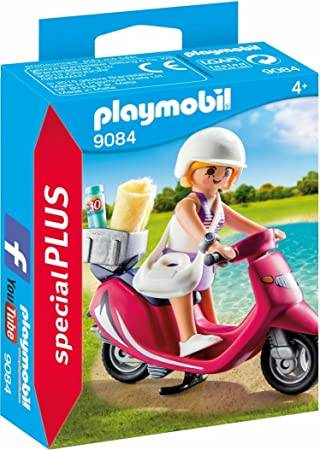 Oferta amazon: PLAYMOBIL Especiales Plus- Mujer con Scooter, única (9084)