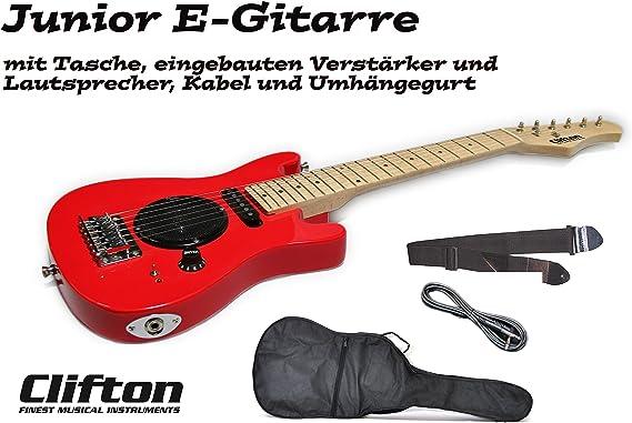 Guitarra eléctrica infantil con amplificador y altavoz, funda y ...