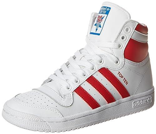 9adccbfca6b5 adidas Originals Top Ten Hi J Basketball Shoe Big Kid Core White 7 M US Big  Kid  Amazon.in  Shoes   Handbags