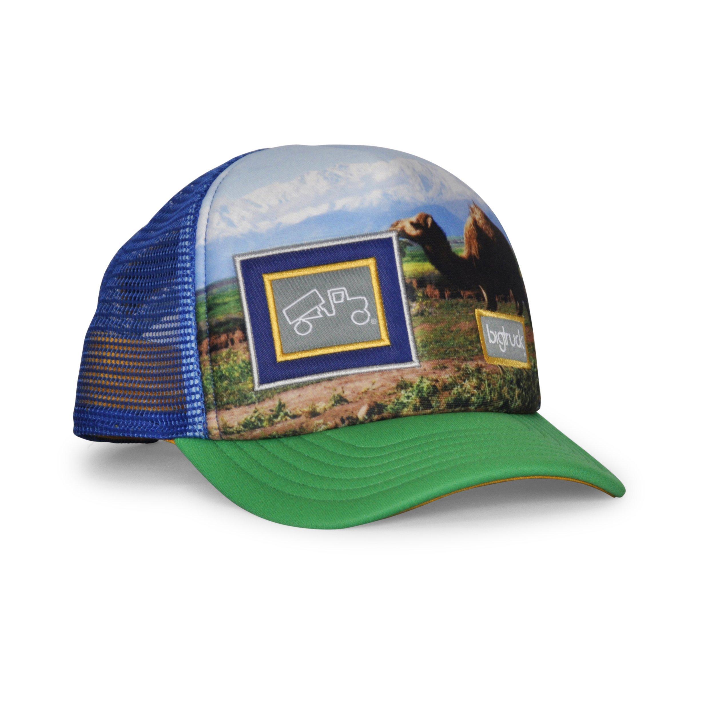 bigtruck Original Toddler Mesh Snapback Toddler Trucker Hat, Green