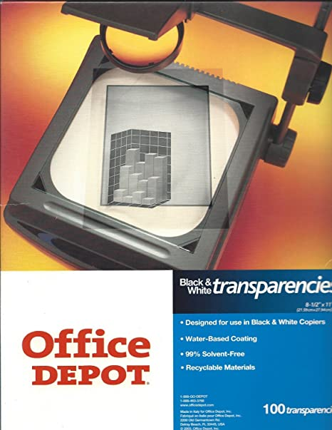 Attrayant Office Depot(R) Plain Paper Copier Transparency Film, Pack Of 100