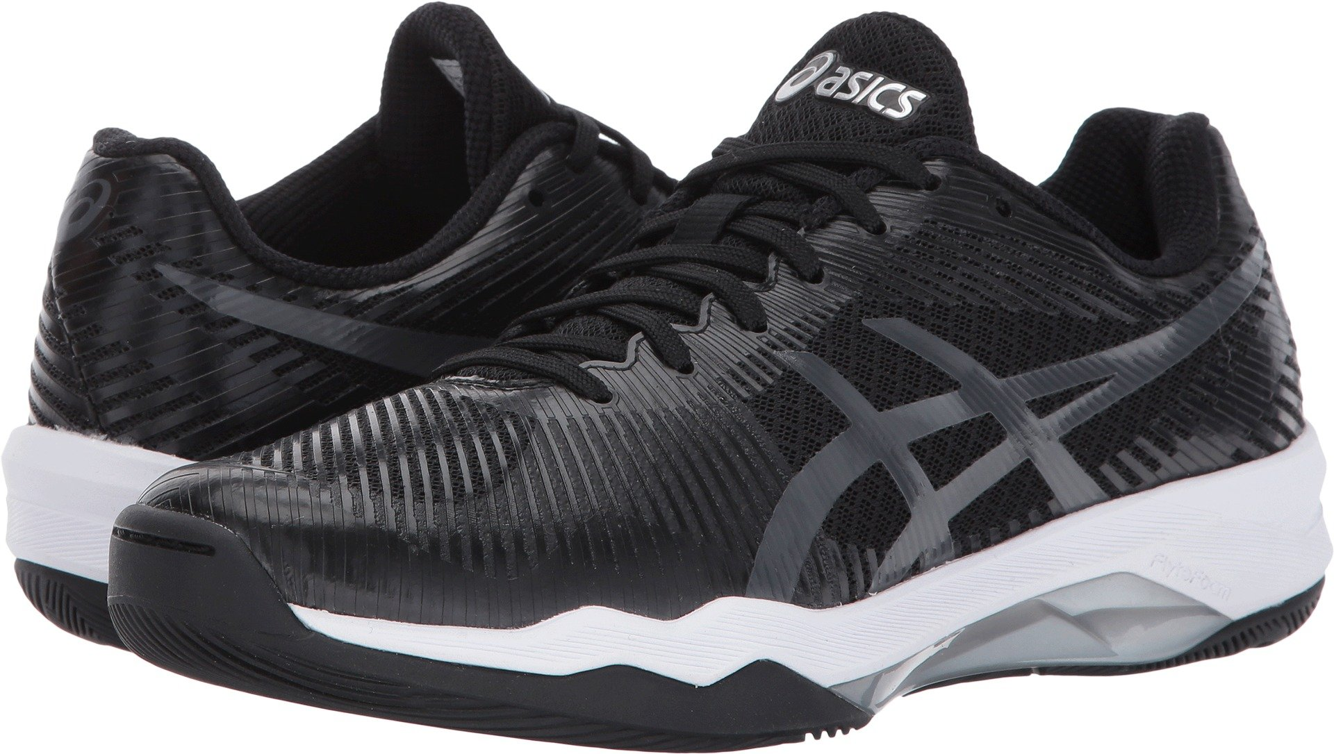 ASICS Women's Volley Elite FF Volleyball Shoe, Black/Dark Grey/White, 8 Medium US