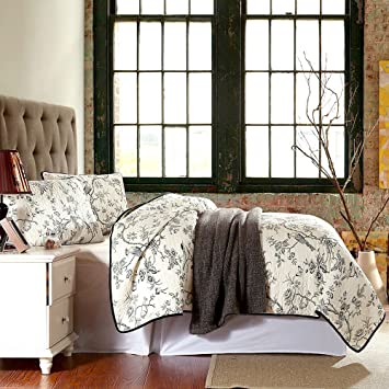 best comforter sets flying birds and flowers printing 3 piece cotton sets