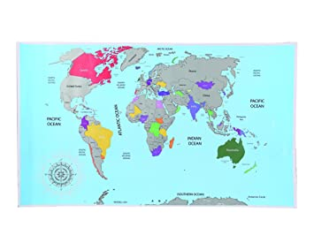 Scratch world map amazon office products scratch world map gumiabroncs Images