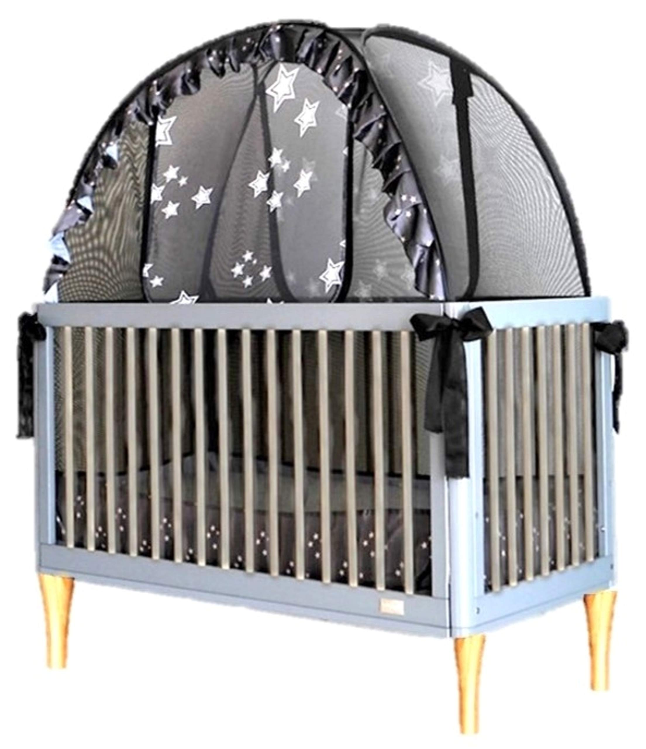 Popup Crib Safety Tent Net Keeps Toddlers from Climbing Out of The Crib and so Much More