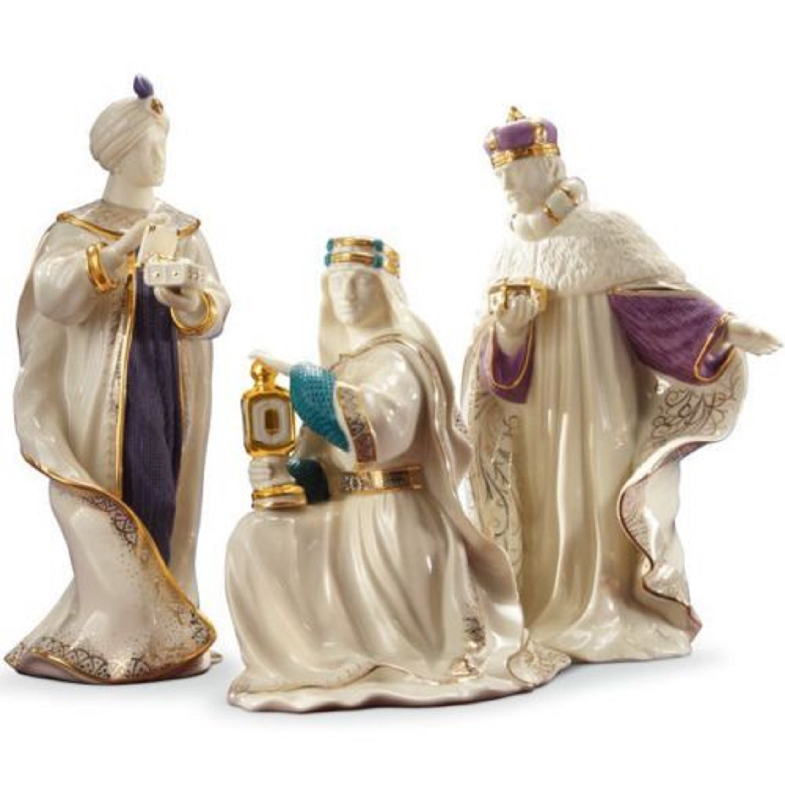 Lenox First Blessing Nativity Three Kings Wise Men 3 Figurines Gaspar Melchior Balthazar 1st Quality