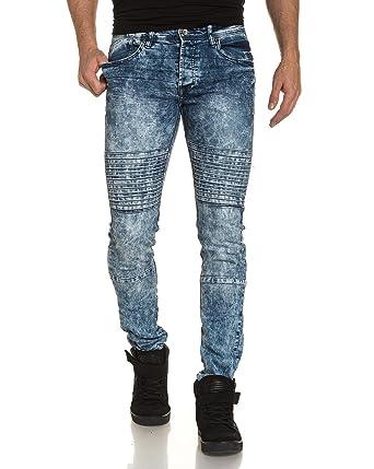 relief Bleu Gov homme slim Denim bleu Jeans couleur bandes n8B8AYqw