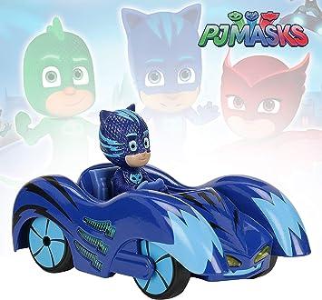 Dickie- PJ Mask Vehículo de Juguete con Personaje, Color Azul (3142000)