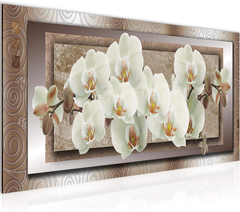 LEINWAND BILDER Blumen Orchidee WANDBILDER XXL Wohnzimmer Nachleuchtend 0279