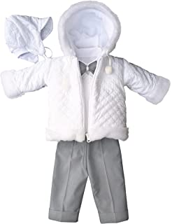deine-Brautmode Taufanzug Festanzug Jacke Steppjacke M/ütze Hose Hemd Weste Fliege Taufe Baby Anzug blau