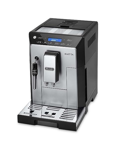 DeLonghi Eletta Plus Independiente Semi-automática Máquina espresso Acero inoxidable - Cafetera (Independiente,