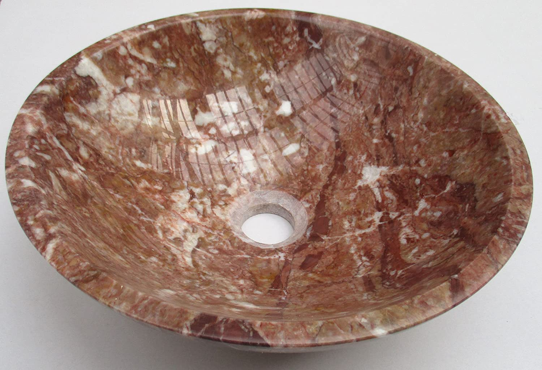 b0067 Rouge marbre pierre bassin lavabo salle de bain 35/cm x 12/cm