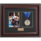 Victory Marathon and Triathlon Photo and Finishing Medal Framing Kit - Library Mahogany