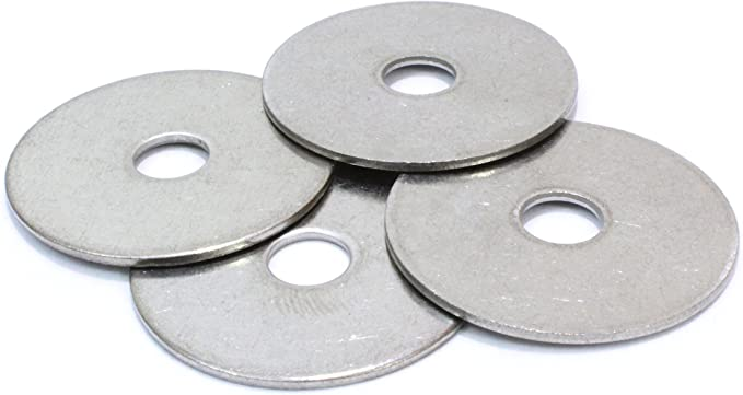 Extra Thick Heavy Duty Washers 1//4 x 1 Large OD 1//4x1 50