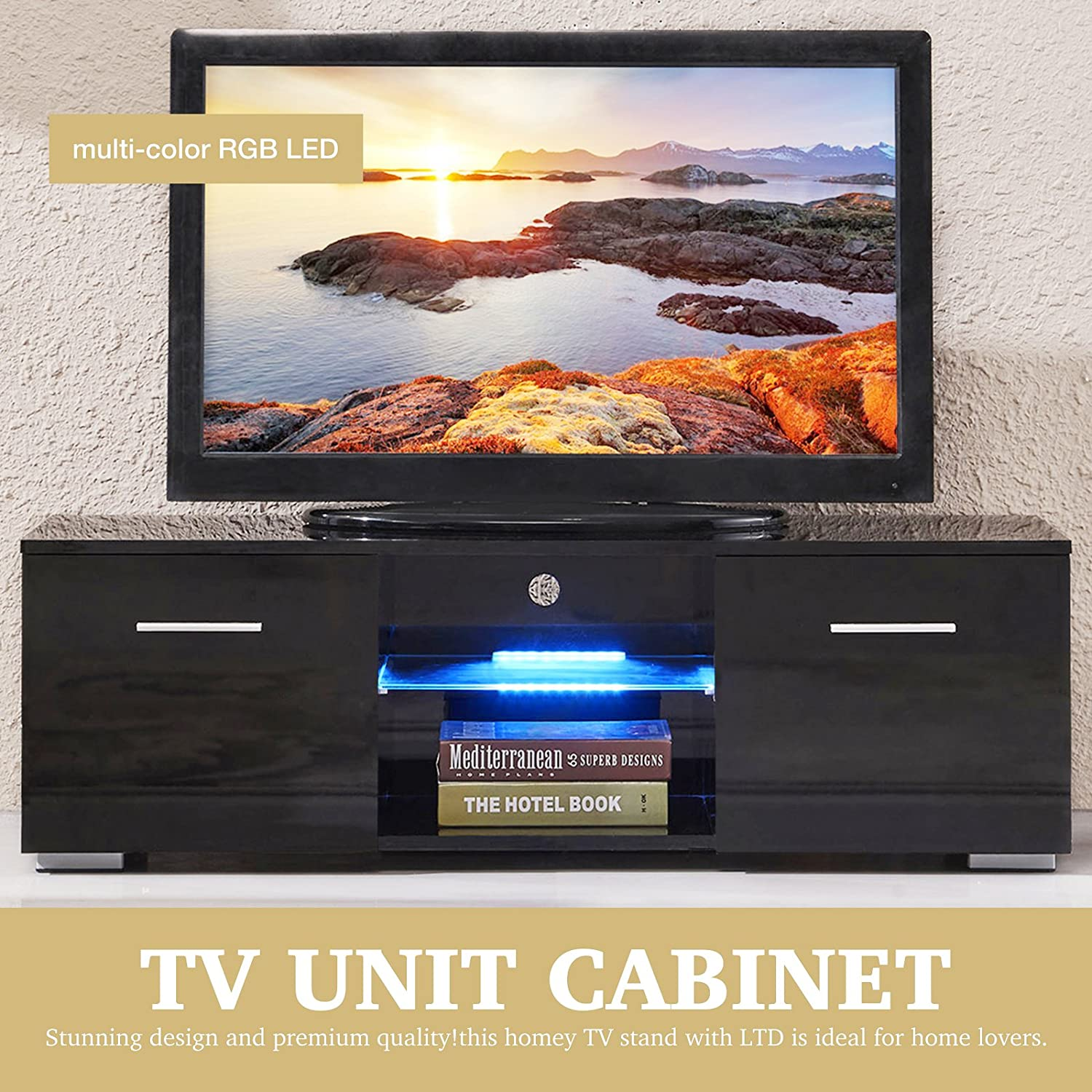 stunning better homes and gardens entertainment center. Amazon com  SUNCOO TV Stand Media Console Cabinet LED Shelves with 2 Drawers for Living Room Storage High Gloss Black up to 47 inch Screens Kitchen