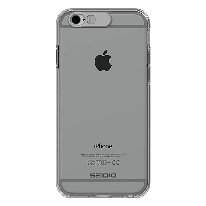 Seidio LUMA Case for iPhone 6 / 6s [Notification Light Case] [Customizable] - Retail Packaging - Clear