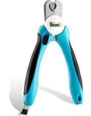 BOSHEL Dog Nail Clippers and Trimmer with Safety Guard to Avoid Over-Cutting Nails & Free Nail File - Razor Sharp Blades - Sturdy Non Slip Handles - for Safe, Professional at Home Grooming
