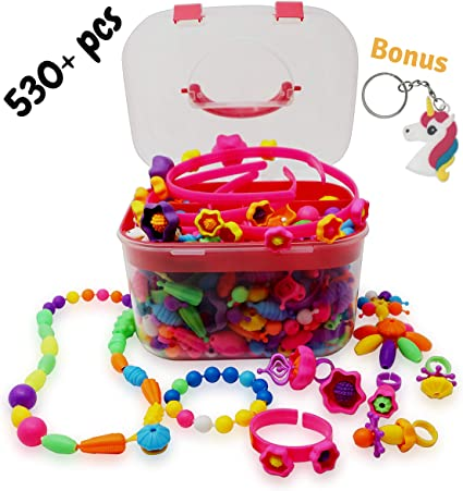 Amazon.com: Kisetroy Pop Beads - Juego de pulseras, anillos ...