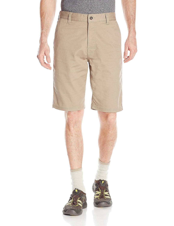 Size 35 prAna M3TABL116 Mens Table Rock Chino Shorts Dark Khaki