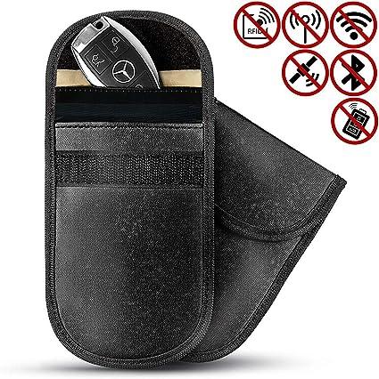 2x  Car Key Fob Signal Blocker Shield Keyless theft Guard Faraday Pouch Bag