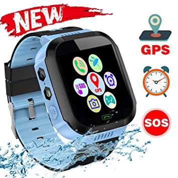Kids Smartwatch, Watch para llamadas telefónicas, mensajes de voz, cámara, conexión SOS, linterna, juegos de matemáticas, alarmas y muchas otras ...