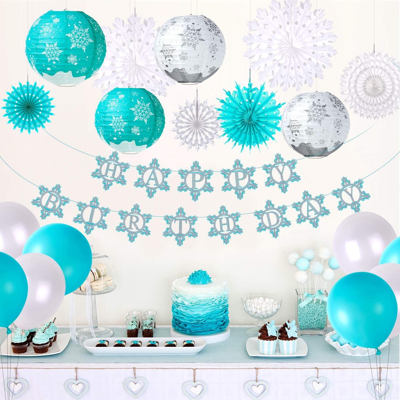 Amazon Com Tuparka Frozen Birthday Party Supplies For Winter Frozen Birthday Party Decorations Winter Wonderland Party Winter Onederland 1st Girl S Birthday Toys Games
