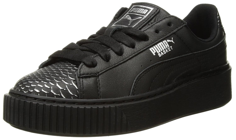 PUMA Women's Basket Platform Ocean Wn Sneaker B07521JZFR 8 B(M) US|Puma Black-puma Silver-puma Black