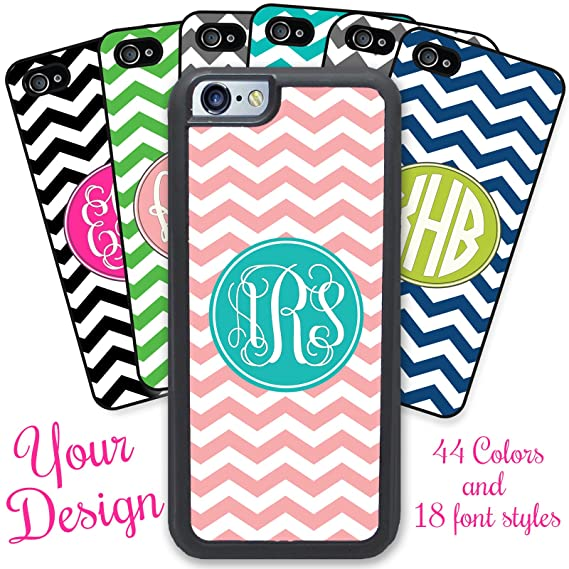 promo code c8357 114db iPhone 6, iPhone 6S, Simply Customized Phone Case Compatible with Apple  iPhone 6 6S (4.7 inch) - Chevrons You Design Monogram Monogrammed  Personalized
