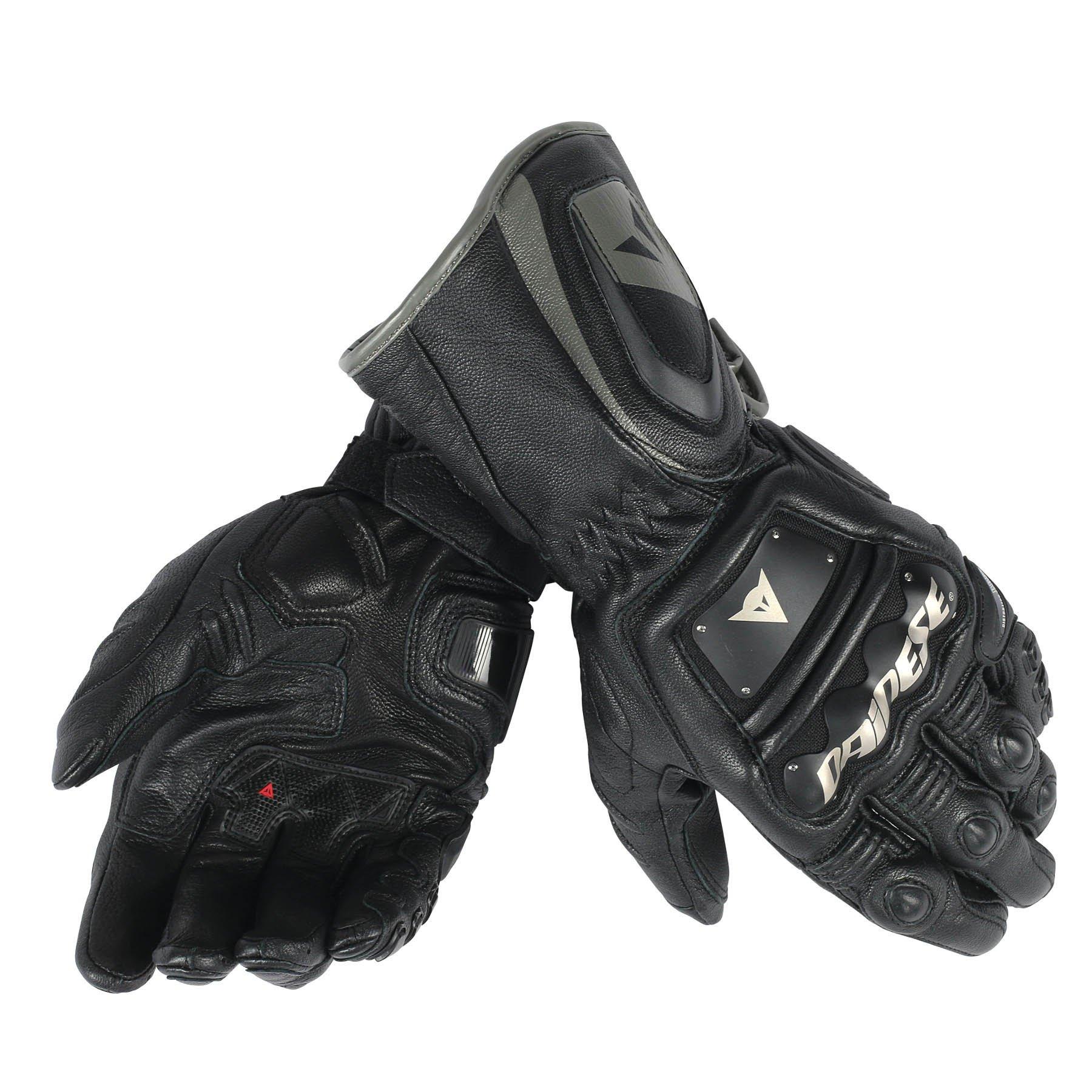 Dainese 4 Stroke Long Men's Street Motorcycle Gloves - Black/Black/Black/Large