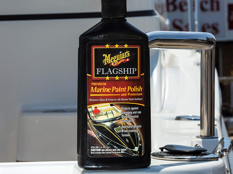 Meguiar S Premium Marine Paint Polish Protectant 16oz Auto