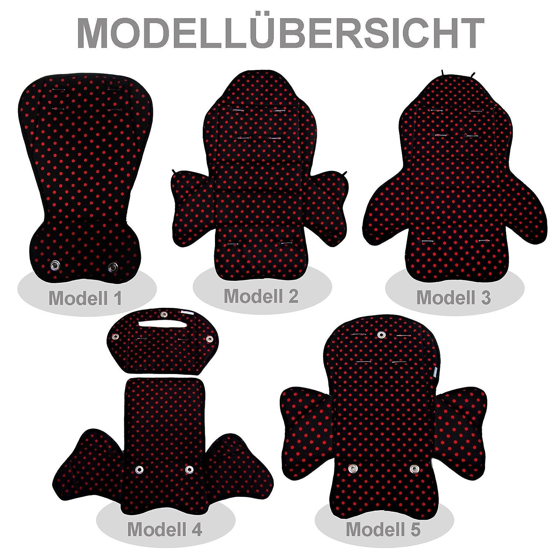 BambiniWelt24 BAMBINIWELT Ersatzbezug Sitzkissen Bezug f/ür Fahrradsitz Modell R/ÖMER Jockey Modell 1, Design