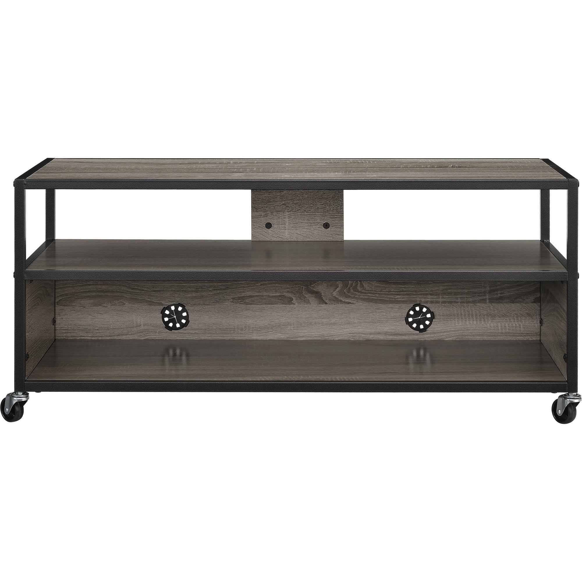 Altra Mason Ridge Mobile 46'' TV Stand with Metal Frame, Sonoma Oak/Black by Altra Furniture (Image #4)