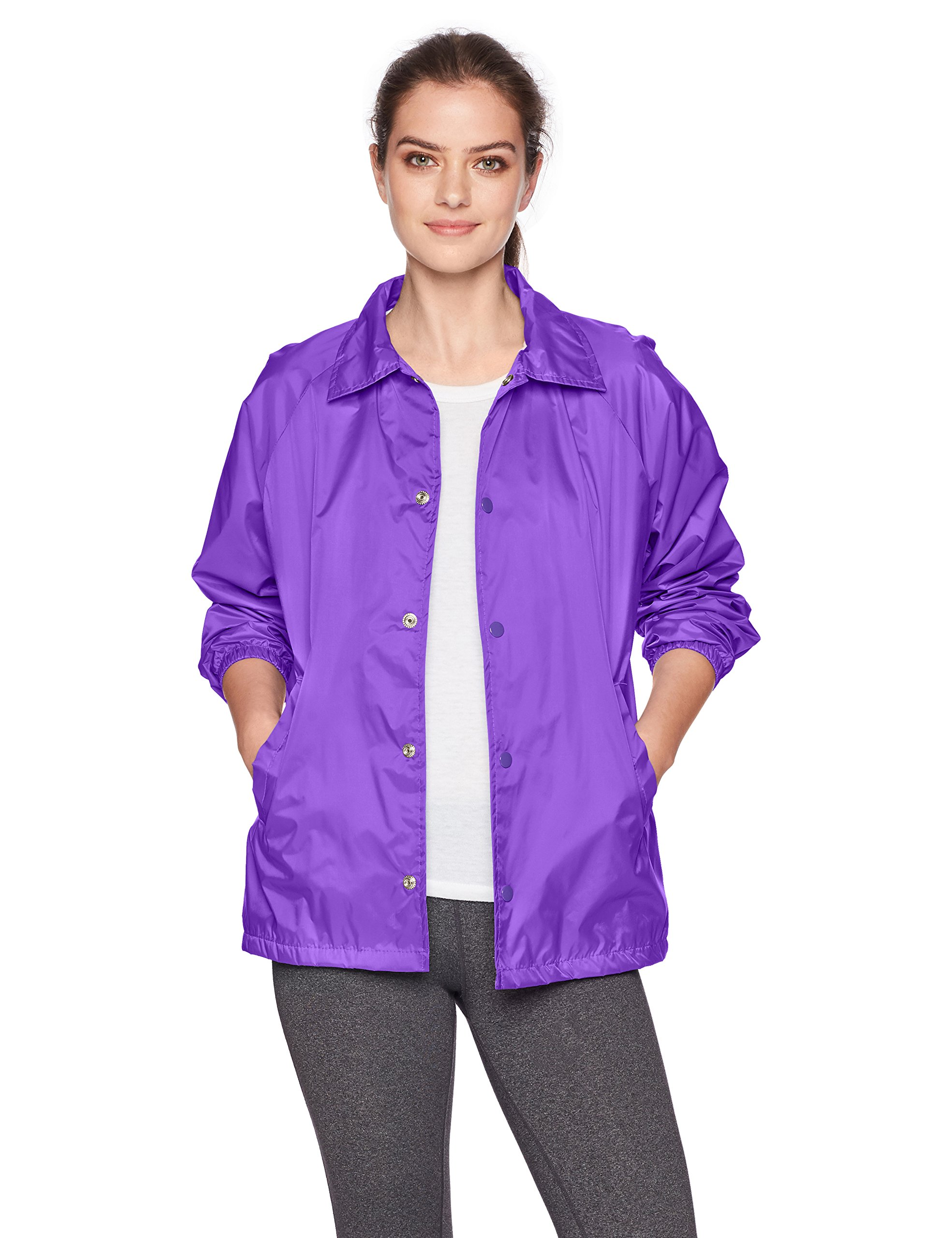 Augusta Sportswear Unisex-Adult Nylon Coach's Jacket/Lined, Purple, X-Large by Augusta Sportswear