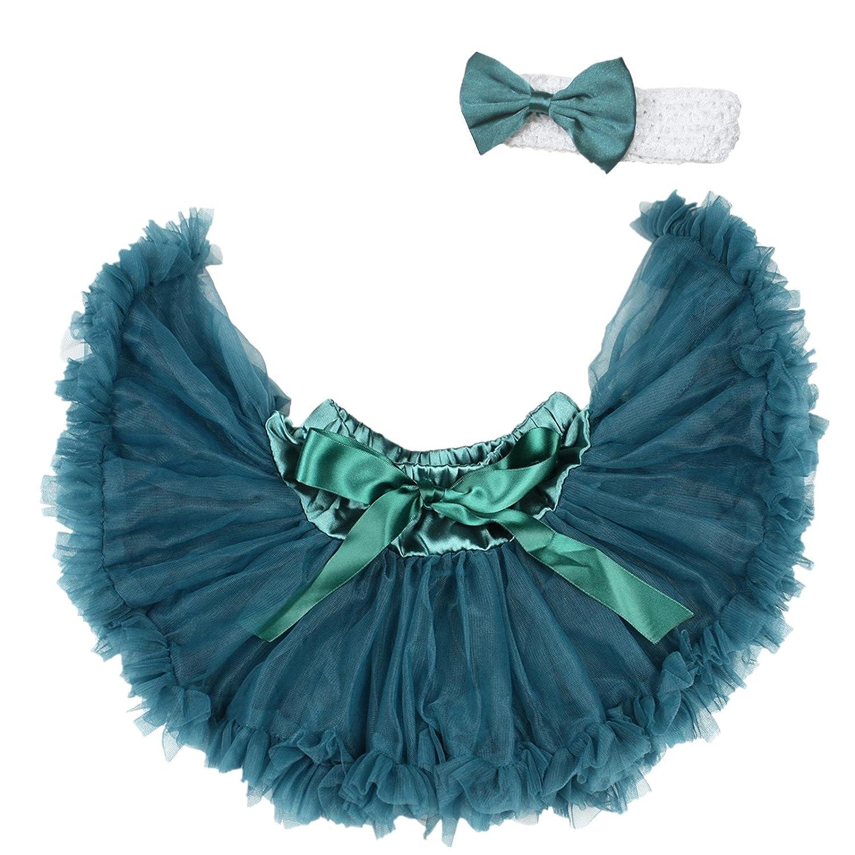 Christmas Teal Green Baby Pettiskirt Skirt Tutu Dress Girl Clothing Nb-12m N175