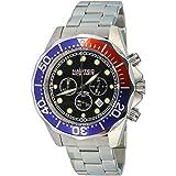 Nautec No Limit - DS-B QZ2/STSTRDBLBK - Montre Homme - Quartz - Chronographe - Chronomètre - Bracelet Acier Inoxydable Argent