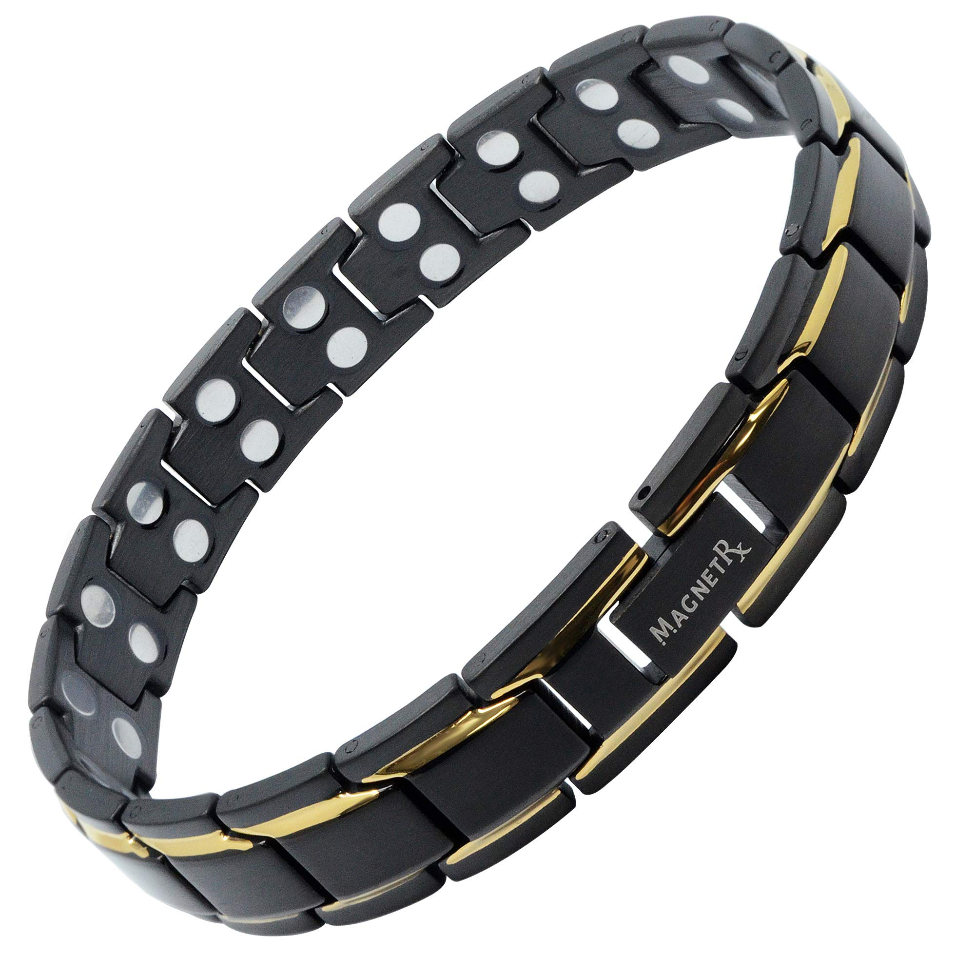 MagnetRX Ultra Strength Magnetic Therapy Bracelet Double Magnet Pain Relief for Arthritis and Carpal Tunnel by MagnetRX (Image #1)
