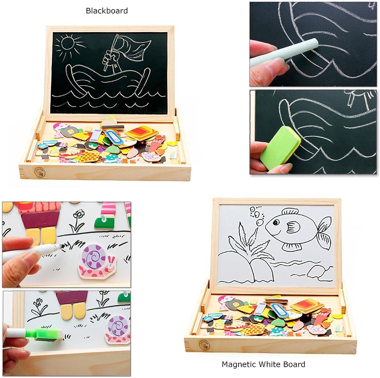/For/êt Zoo Paradise Babyhugs enfants jouet en bois magn/étique double face Chevalet Tableau noir Tableau blanc Dessin Art/
