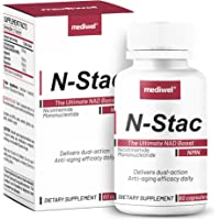 N-Stac- Featuring Pure NMN (99%) - CD38 Inhibitors Apigenin and Quercetin - Elevates NAD+ Bioavailability - Stabilized…