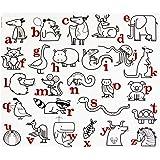 modern-twist Kids Mark-Mat Silicone Coloring Placemat, Alphabet Animals