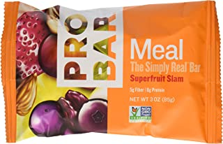 product image for PROBAR - Meal Bar - Superfruit Slam - Organic Oats, Nuts, Seeds, Gluten Free, Non-GMO Project Verified, Plant-Based Whole Food Ingredients, 8g Protein, 5g Fiber - Pack of 12 Bars