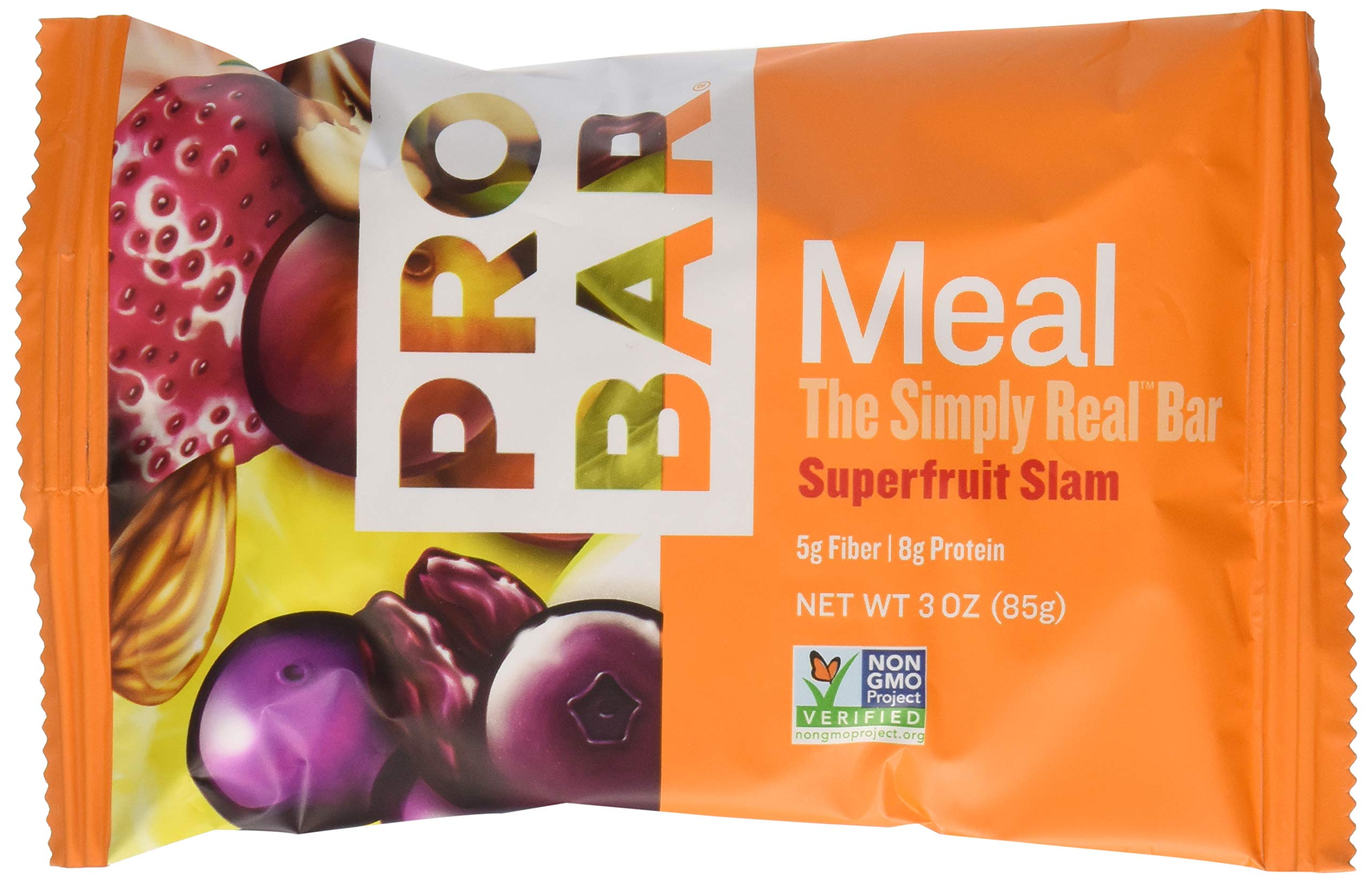 PROBAR - Meal Bar - Superfruit Slam - Organic Oats, Nuts, Seeds, Gluten Free, Non-GMO Project Verified, Plant-Based Whole Food Ingredients, 8g Protein, 5g Fiber - Pack of 12 Bars by Probar