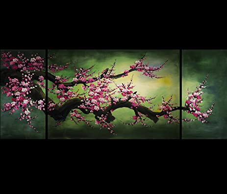 Abstract Painting Modern Wall Art Paintings Japanese Cherry Blossom Canvas Wall  Art Fine Art Giclee Print