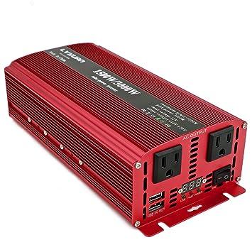 Amazon.com: Cantonape 1500W/3000W (máximo) DC 12V a 110V AC ...