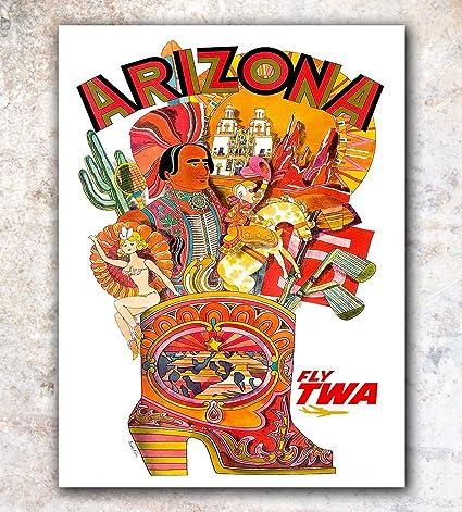 Amazon com: Arizona Vintage Travel Poster Art Retro Print