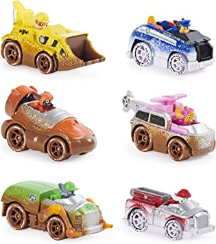 PAW PATROL 6058351 Off Road Mud True Metal Diecast Gift Pack of 6 Collectible Die-Cast Vehicles, 1:55 Scale, Multicoloured: Amazon.es: Juguetes y juegos