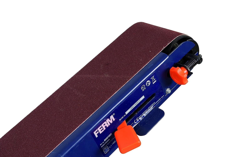 Mit 2 Schleifb/ände und 2 Schleifschreiben Kombi Bandschleifbank 375W FERM Bandschleifer Staubschutzschalter Flexibel andwendbar