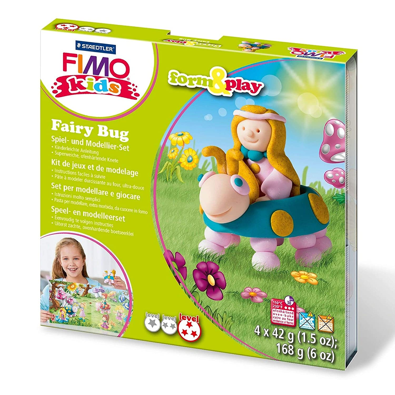 STAEDTLER 8034 22 LZ Fimo Kids Bug Buddy Form and Play Set