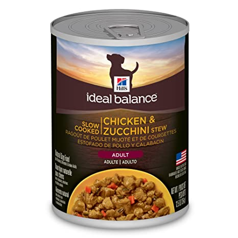 Ideal Balance Dog Food >> Hill S Ideal Balance Adult Natural Wet Canned Dog Food Chicken Zucchini